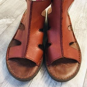 Keen Cushion Leather Ankle Strap Sandals 8.5